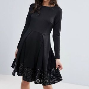 Traffic People long sleeve dress with sequins
